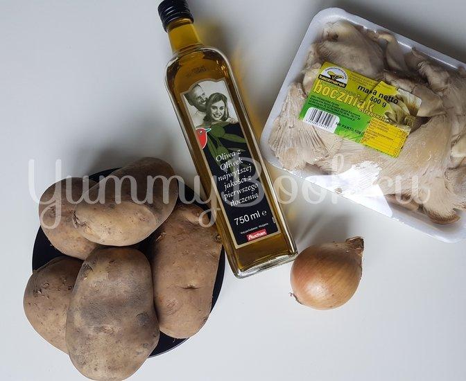 Вешенки с жареной картошкой - шаг 1