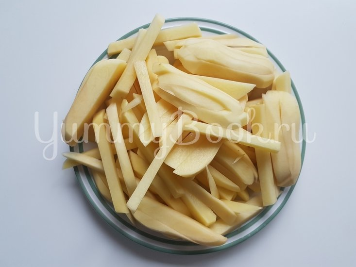 Вешенки с жареной картошкой - шаг 4