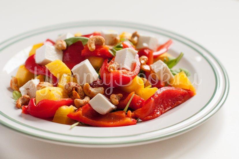 Теплый овощной салат с кешью и сыром Фета - шаг 8