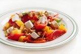 Теплый овощной салат с кешью и сыром Фета