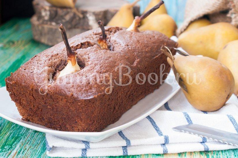 Шоколадный кекс с грушами - шаг 8