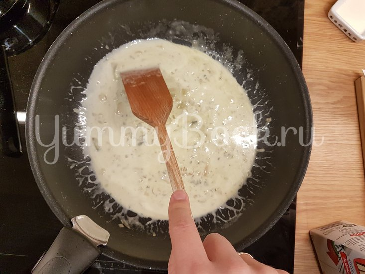 Мидии в сырном соусе - шаг 4