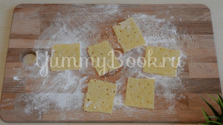 Хрустящие сырные крекеры с кунжутом - шаг 3