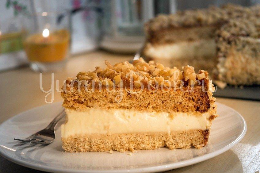 Торт Медовик из двух коржей