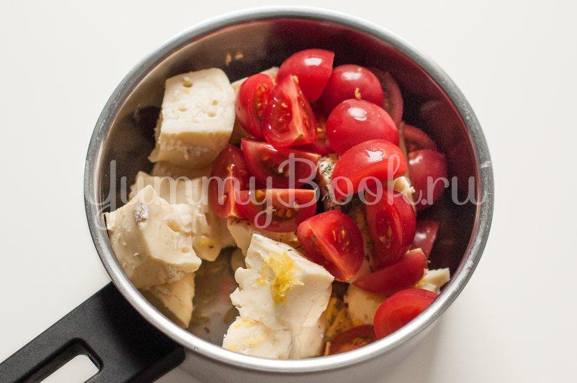 Паста с соусом из сыра Бри с томатами - шаг 1