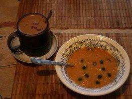 Суп-пюре томатный с брынзой