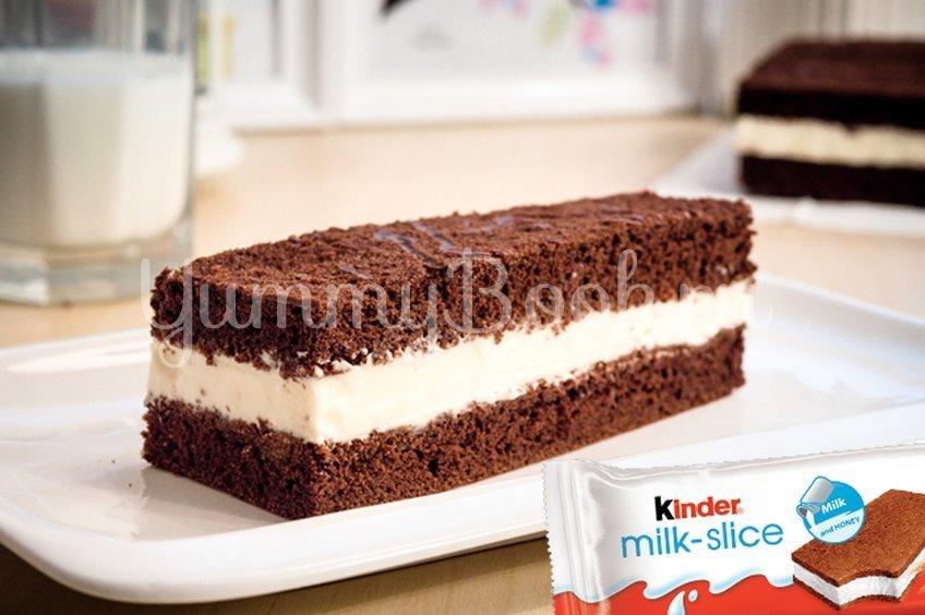 """Домашний Киндер """"Молочный ломтик"""" (Kinder Milk Slice)"""