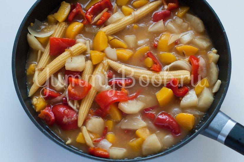 Курица в кисло-сладком соусе с овощами - шаг 9