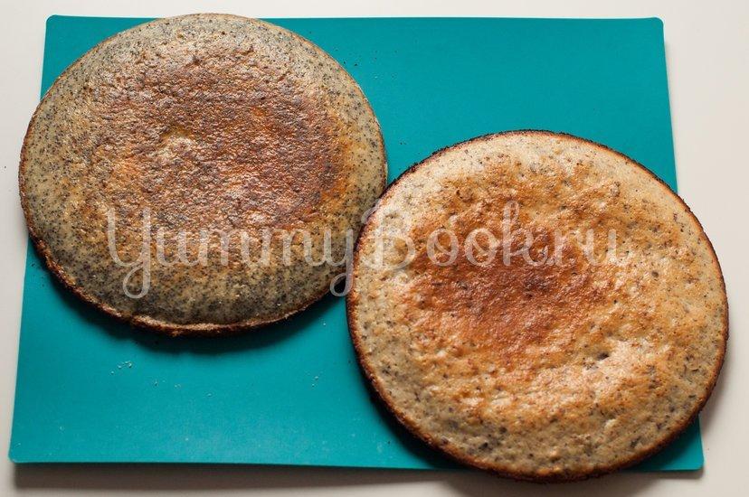 Маково-ореховый торт со сметанным кремом - шаг 7