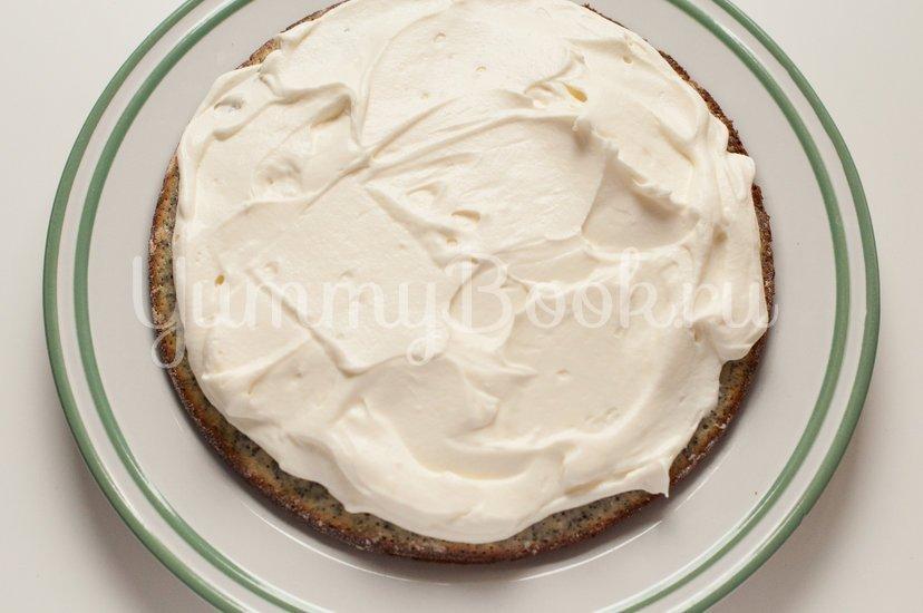 Маково-ореховый торт со сметанным кремом - шаг 9