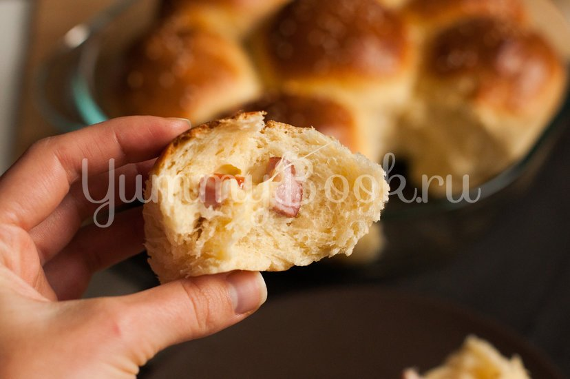 Итальянские булочки Данубио с сыром и ветчиной - шаг 15