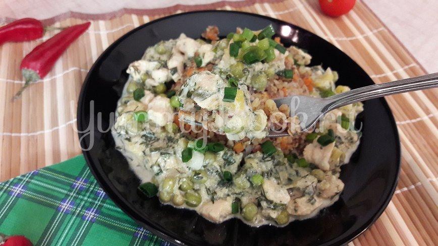 Курино-овощная сметанная подлива  - шаг 14