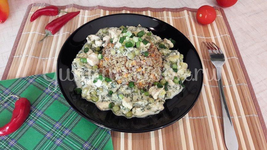 Курино-овощная сметанная подлива  - шаг 12