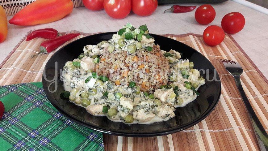 Курино-овощная сметанная подлива  - шаг 13