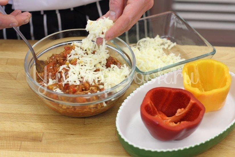 Быстрый фаршированный перец с сыром - шаг 3