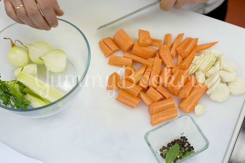 Овощной бульон - шаг 1