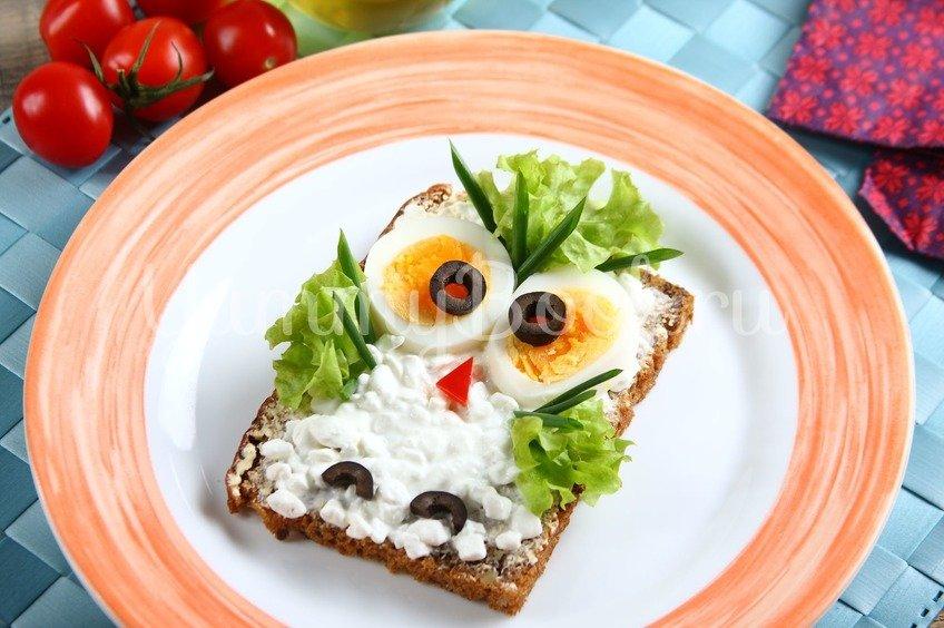 """Детский бутерброд """"Сова"""""""