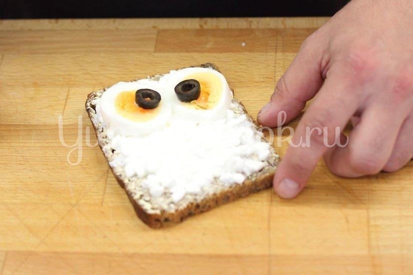 "Детский бутерброд ""Сова"" - шаг 2"