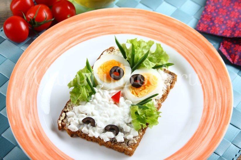 "Детский бутерброд ""Сова"" - шаг 4"
