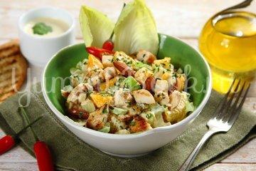 Салат с курицей и мандаринами - шаг 4