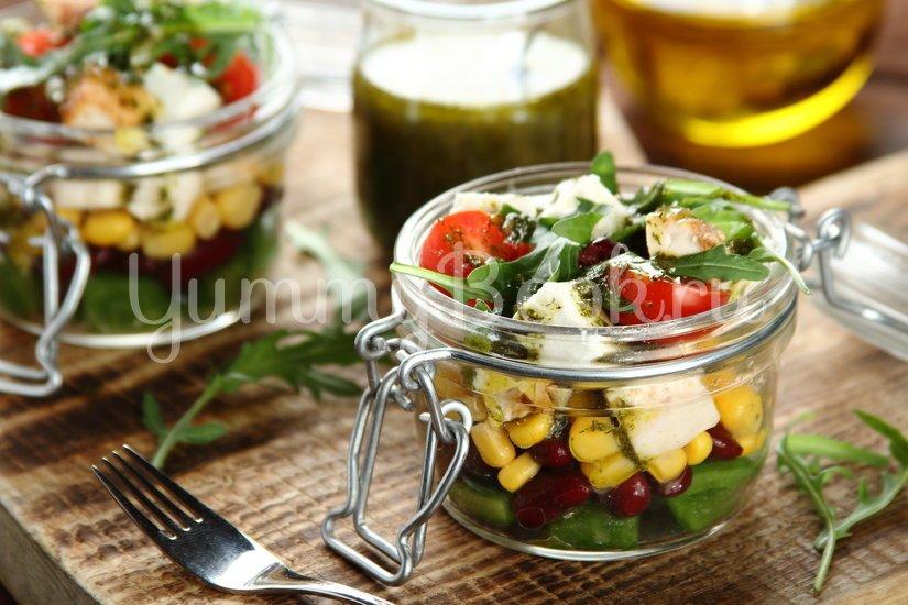 Легкий салат с курицей и свежими овощами - шаг 5