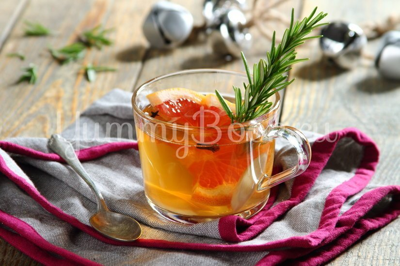 Согревающий чай с грейпфрутом и розмарином - шаг 2