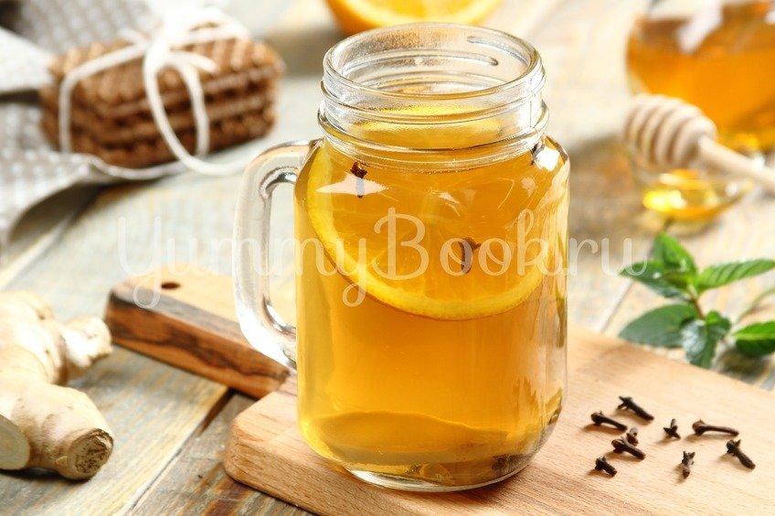 Согревающий зеленый чай с медом и имбирем