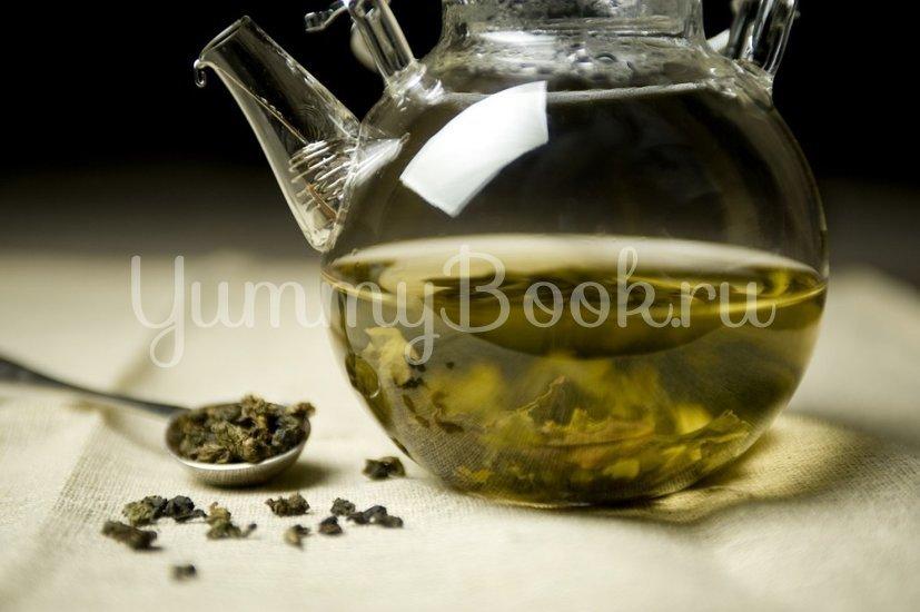 Согревающий зеленый чай с медом и имбирем - шаг 1