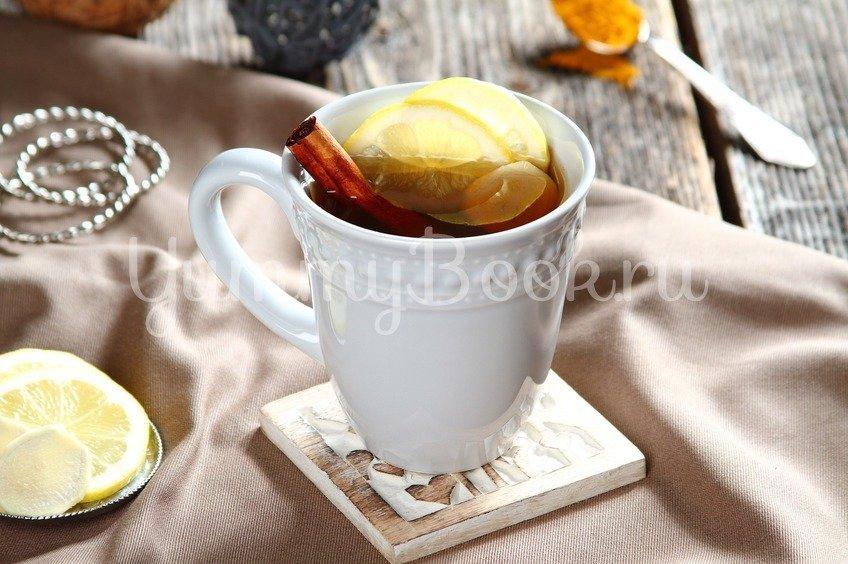 Согревающий чай с куркумой и имбирем
