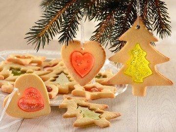 Песочное печенье с витражами