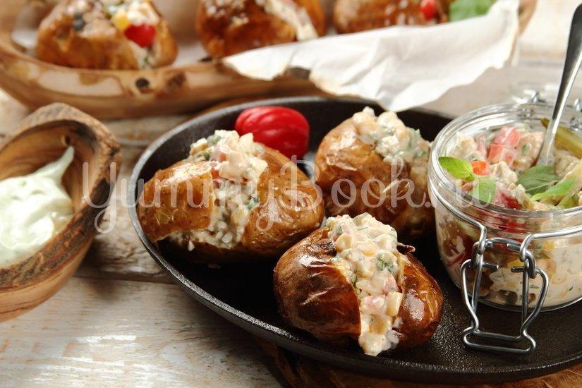 Запеченный фаршированный картофель - шаг 6
