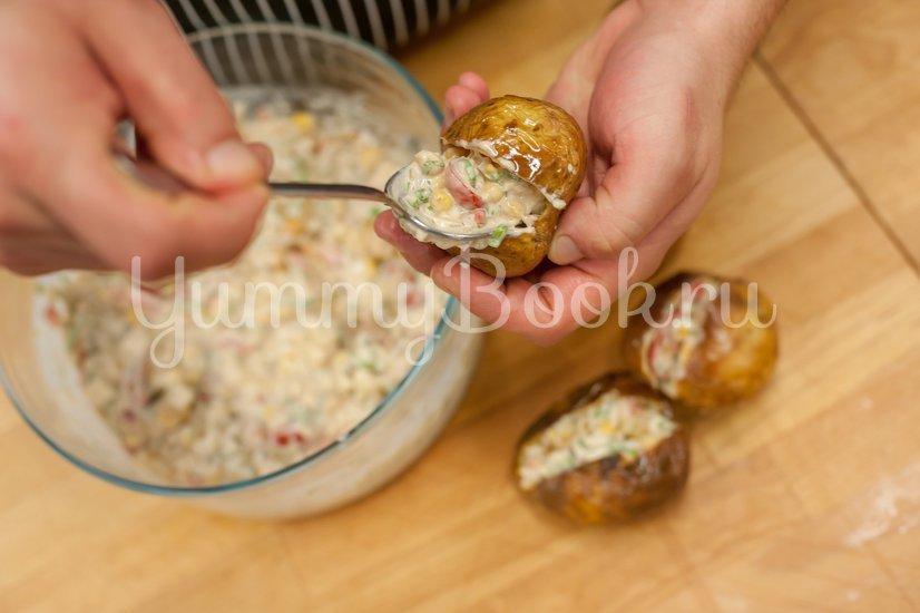 Запеченный фаршированный картофель - шаг 5