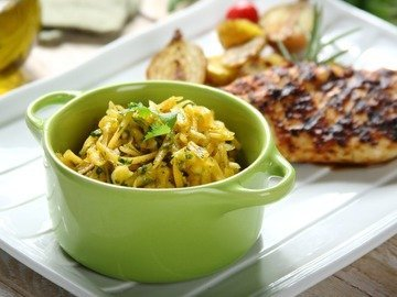 Свежий салат из тыквы