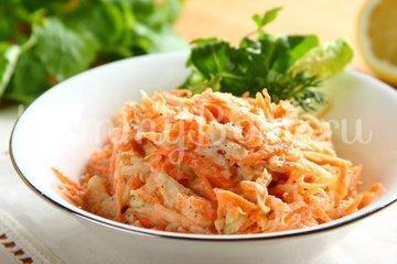Свежий салат с морковью и яблоками - шаг 3