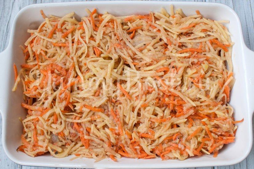 Картофельная запеканка с фрикадельками - шаг 5