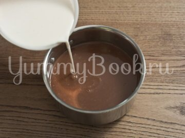 Шоколадный десерт из манной крупы - шаг 2