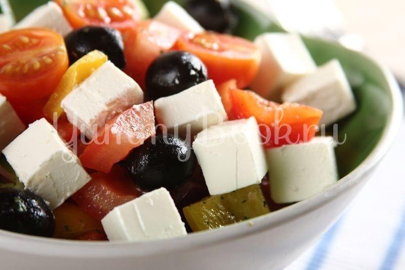 Классический греческий салат - шаг 2