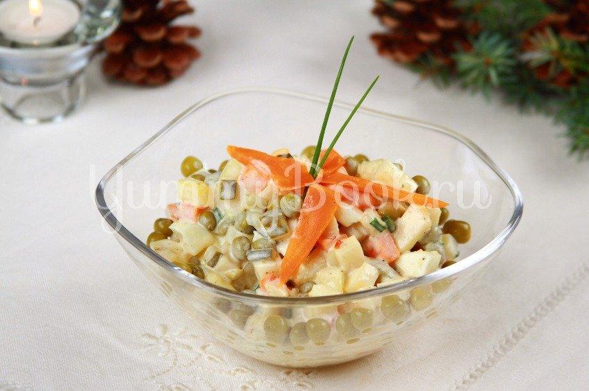 Салат овощной с майонезом