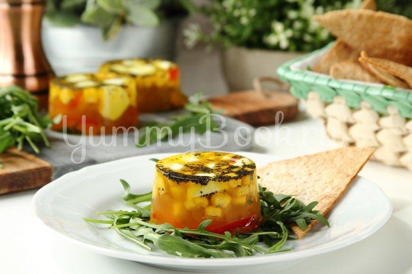 Заливное из овощей с сыром Моцарелла