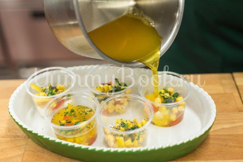 Заливное из овощей с сыром Моцарелла - шаг 4