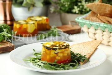 Заливное из овощей с сыром Моцарелла - шаг 5
