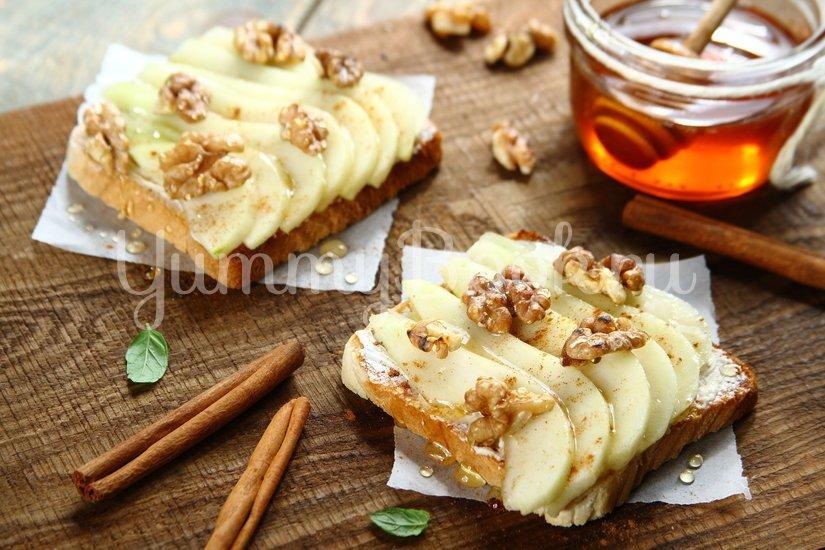 Тосты с грушей и медом - шаг 4