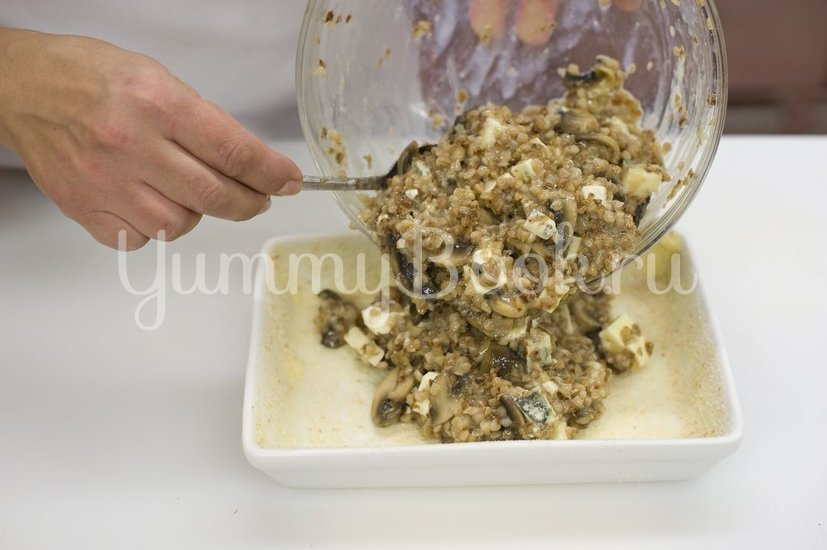 Запеканка из гречки с грибами - шаг 4