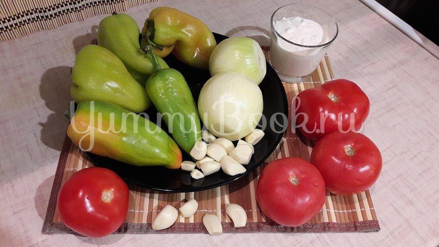 Густая сметанно-овощная подлива - шаг 1