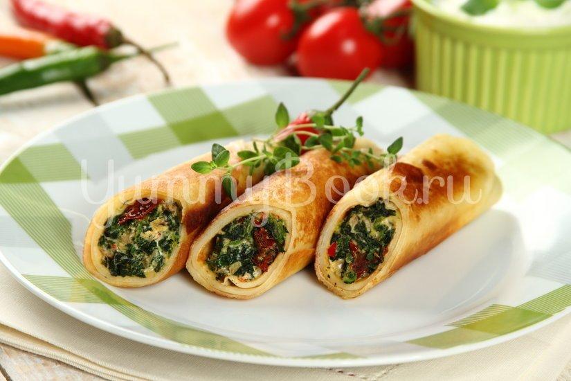 Блины со шпинатом и козьим сыром - шаг 5