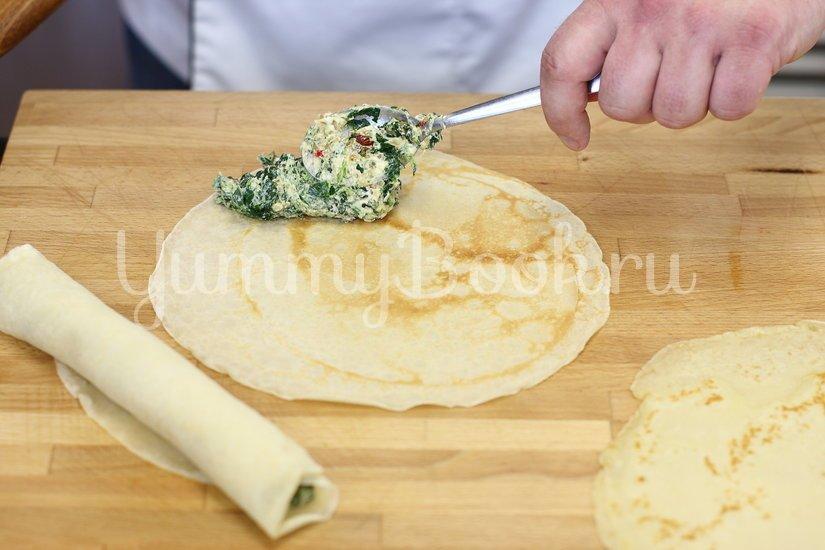 Блины со шпинатом и козьим сыром - шаг 3