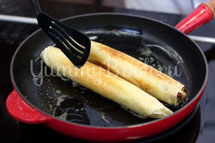 Блины со шпинатом и козьим сыром - шаг 4