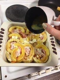 Запеченые кабачки с помидором и чесноком - шаг 7