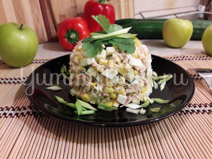 Простой салат с тунцом и яблоком - шаг 5