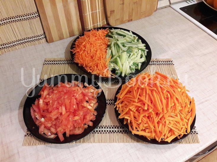 Лёгкий и полезный салат с тыквой - шаг 2